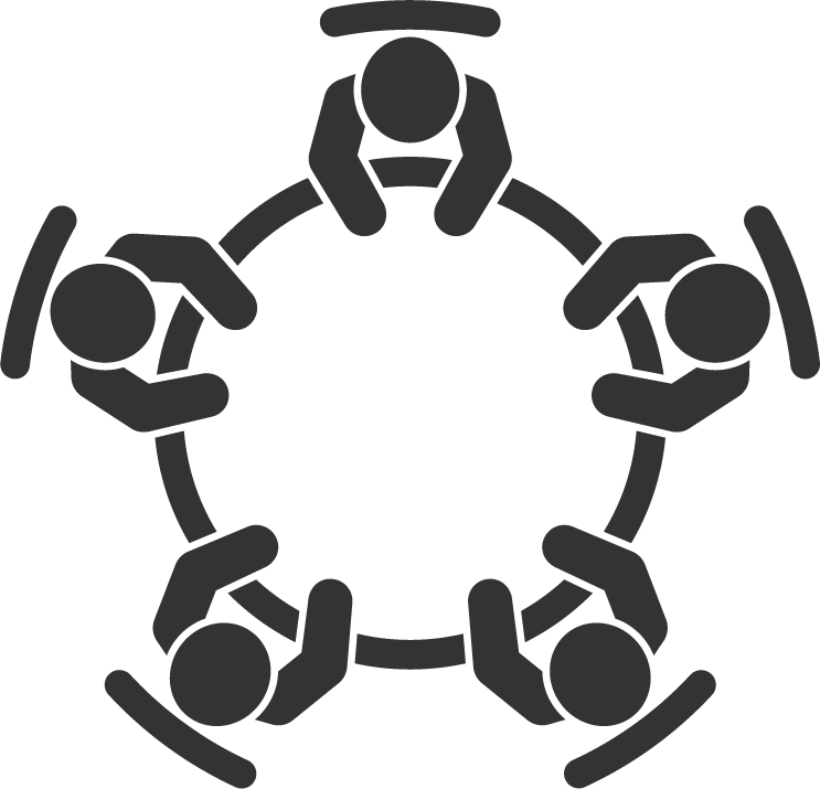 People Sitting Around a Table Icon