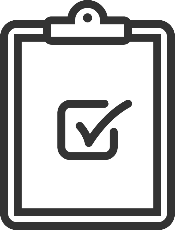 Clipboard With a Check in the Middle Icon